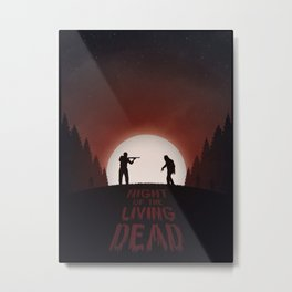 Night of the Living Dead (Red Version) Metal Print