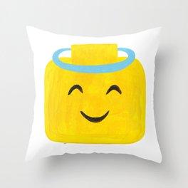 Emoji Minifigure Angel Devil Throw Pillow