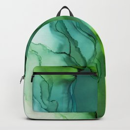 Spring Greens Abstract Landscape Backpack