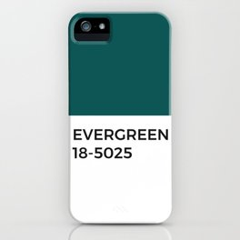 Evergreen Pine Forest Green Pantone Chip iPhone Case