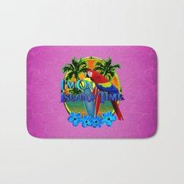 Pink Island Time Sunset Bath Mat