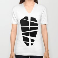 lungs V-neck T-shirts featuring Lungs by MarioGuti