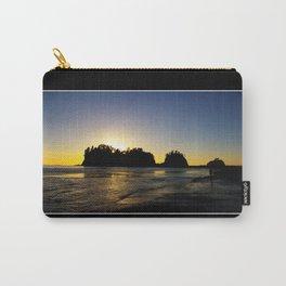 sun setting behind james island, washington, usa  Carry-All Pouch