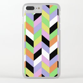 Stacked Colour Clear iPhone Case
