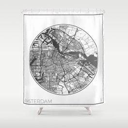 Amsterdam Map Universe Shower Curtain