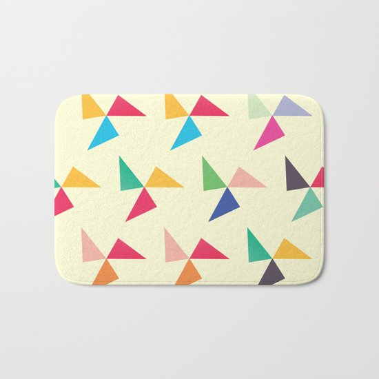 Colorful geometric pattern III Bath Mat