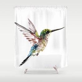 Hummingbird, bird art minimalist bird design hummingbird lover Shower Curtain