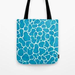 The Great Sea: Graphic Ocean Water Pattern Tote Bag