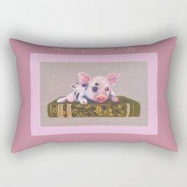 Shakespeare Pig Rectangular Pillow