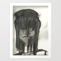 hippie Art Prints featuring Hippie  by Leena Soufi