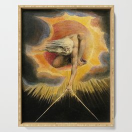 The Ancient Of Days Painting William Blake Serving Tray