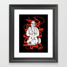 STUPID SOLDIER Framed Art Print