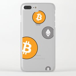 Ethereum and Bitcoin Pattern Clear iPhone Case