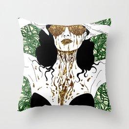 Golden Dita Throw Pillow