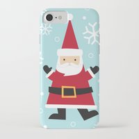 santa iPhone & iPod Cases featuring Santa by Claire Lordon
