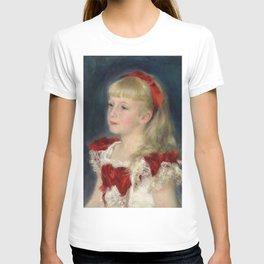 "Auguste Renoir ""Mademoiselle Grimprel au ruban rouge"" T-shirt"