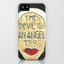 The Devil is An Angel Too iPhone Case