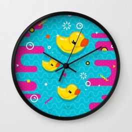 Rubber Ducky Party Time Wall Clock