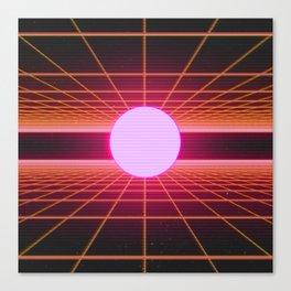 Retro 80s Grid 'Into the Void' Canvas Print