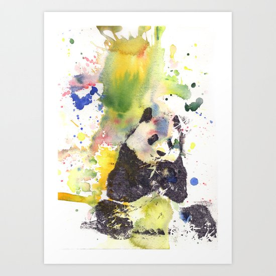 Panda's are Cool Art Print