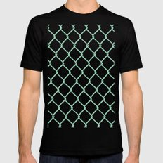 Chain Link on Mint Black Mens Fitted Tee MEDIUM