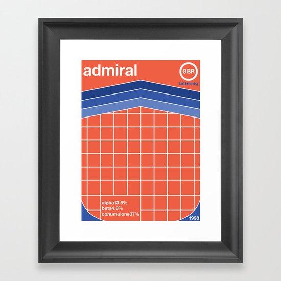 admiral single hop Framed Art Print