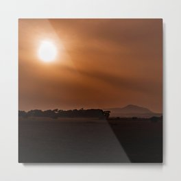 Sun Gazing Metal Print