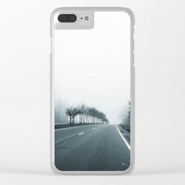 Empty Road Clear iPhone Case
