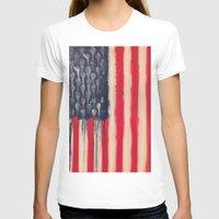 america T-shirts featuring America  by Matt Pecson