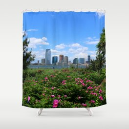 View Onto Jersey City Shower Curtain