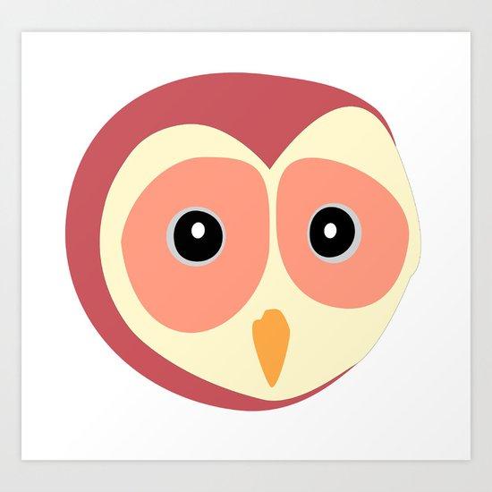 Owl Vermelho Art Print