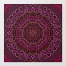 Dark purple mandala Canvas Print