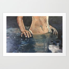 Trouble the Water Art Print
