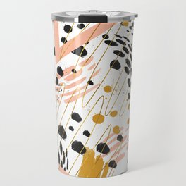 Strokes of abstract geometric shapes Travel Mug
