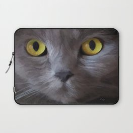 Cat Eyes by Liane Wright Laptop Sleeve