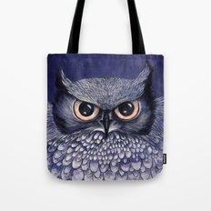La Sagesse du Hibou (The Blue Owl) Tote Bag