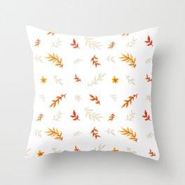 Watercolor autumn Throw Pillow
