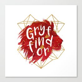Gryffindor Gold Splatter Canvas Print