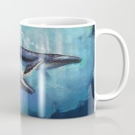 Abstract Colorful Whales  painting  Coffee Mug