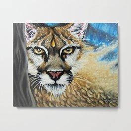 Mountain Lion Spirit Metal Print