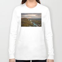 ukraine Long Sleeve T-shirts featuring Holy Mountains Monastery (Ukraine)  by Limitless Design