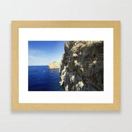 The Way To Neptune's Cave, Sardinia Framed Art Print