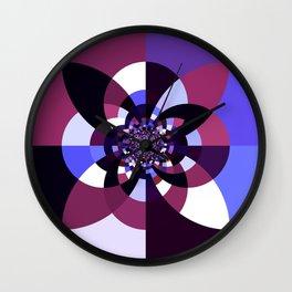 Purple Magenta Periwinkle Kaleidoscope Mangala Wall Clock