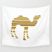camel Wall Tapestries featuring Camel Stripes by Whimsy Notions Designs