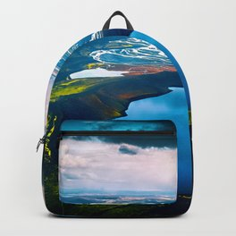 Volcanic island in iceland Backpack