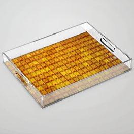 Orange Buddha glass plate Acrylic Tray