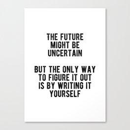 Motivational - Write Your Own Future Minimal Canvas Print