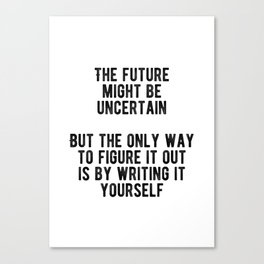 Motivational - Write Your Own Future Minimal Canvas Print