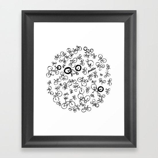 Bicycle World Framed Art Print