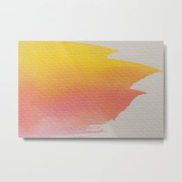 PINK + YELLOW MINIMAL CONTRAST STROKE Metal Print